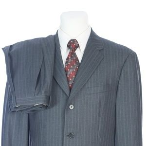 Joseph Abboud American Soft Three Button Gray Suit